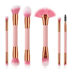 6 Pieces Professional Double Sided Ended Makeup Brushes set