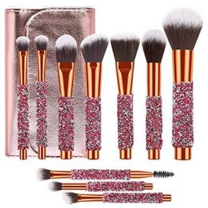 Adpartner 10 PCS Luxury Makeup Brushes Set