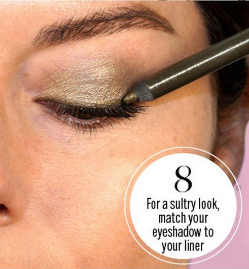 Match your liner and your shadows for an unexpected combo